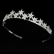 Light Blue Winter Snowflake Tiara HP 5439