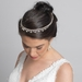 Light Gold Clear Crystal Bridal Wedding Hair Headband Jewelry Necklace 10010