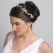 Light Gold Clear Crystal, Rhinestone & Bead Bridal Wedding Vine Headband 10009