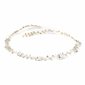 Light Gold Clear Crystal & Rhinestone Bridal Wedding Vine Headband 10008