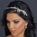 Light Gold Clear Crystal & Rhinestone Floral Side Headband Headpiece 1536