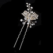 Light Gold Clear Rhinestone Hair Pin 126