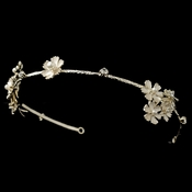 Light Gold Ivory Pearl & Rhinestone Flower Headband