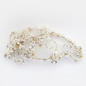 ✧SPECIAL ORDER ONLY✧ Light Gold Swarovski Crystal Bead Floral Vine Clip