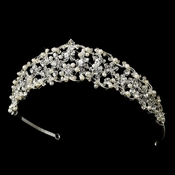 * Lovely Floral Bridal Tiara HP 7013