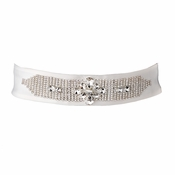 * Modern Rhinestone Accented Wedding Sash Bridal Belt 26