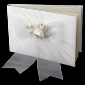 Organza Bow & Rose Guest Book 796