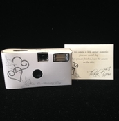 Our Wedding Day Camera Heart 15 Exp Flash **Discontinued***