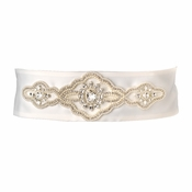 * Pearl & Rhinestone Wedding Sash Belt 9