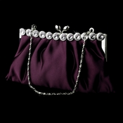 Purple Satin Rhinestone Evening Bag 302
