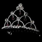 * Red Crystal Child's Tiara Comb HPC 500
