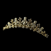* Regal Gold Tiara Bridal Comb w/ Clear Rhinestones 1114 ***Discontinued***
