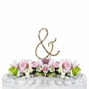 Renaissance ~ Swarovski Crystal Wedding Cake Topper ~ Gold Ampersand &