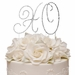 Renaissance ~  XO Hugs & Kisses Crystal Wedding or Anniversary Cake Top Set