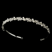 Rhinestone and Pearl Bridal Tiara Headband HP 6237