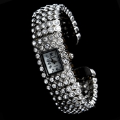Rhinestone Crystal Bridal Watch 23 Silver