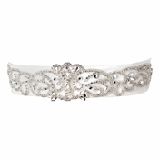 Rhinestone & Glass Bead Swirl Belt 292