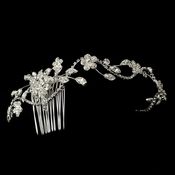 Rhinestone Side Accenting Floral HP-13176**Defective***