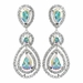 Rhodium AB Teardrop & Round CZ Dangle Earrings