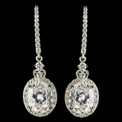 Rhodium Clear CZ Crystal Drop Earrings 4820