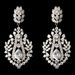 Rhodium Clear CZ Dangle Bridal Wedding Earrings 242