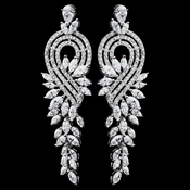 Rhodium Clear Marquise CZ Dangle Earrings 5710