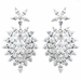 Rhodium Clear Marquise CZ Drop Earrings 9417