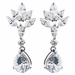 Rhodium Clear Marquise & Pear CZ Drop Earrings 9598