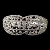Rhodium Clear Multi CZ Crystal Bangle Bracelet 4406
