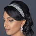 Rhinestone Beaded Ivory Elastic Headband or Applique Belt for Dress (Silver or Gold) HP 1348