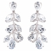 Rhodium Silver Clear CZ Teardrop Dangle Earrings E 3904***Discontinued***