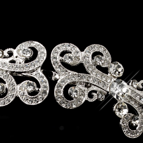Silver Clear Filigree Headband 75