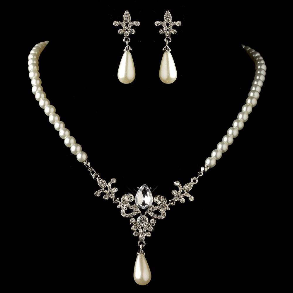 Vintage pearl wedding jewelry sets style guru fashion for Diamond pearl jewelry sets