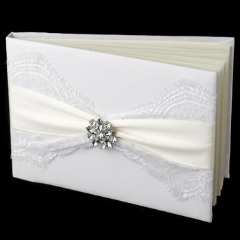 Ribbon & Brooch Guest Book 848