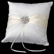 Ribbon & Brooch Ring Pillow 848