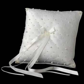 Ring Bearer Bridal Pillow with Scattered Pearls RP 242