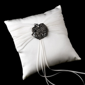 Ring Pillow 11 with Crystal & Rhinestone Flower Brooch 86