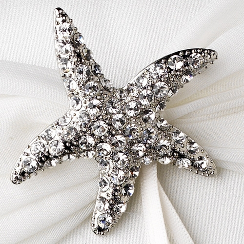 Ring Pillow 11 with Crystal Starfish Brooch 93