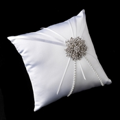 Ring Pillow 16 with Silver Clear Floral Starfish Brooch 15