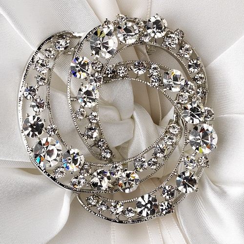 Ring Pillow 17 with Antique Silver Clear Brooch 20