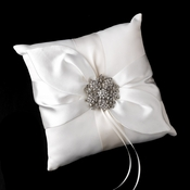 Ring Pillow 17 with Silver Clear Floral Starfish Brooch 15