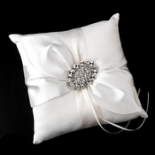 Ring Pillow 17 with Vintage Crystal Brooch 13