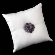 Ring Pillow 9 with Crystal & Rhinestone Flower Brooch 86