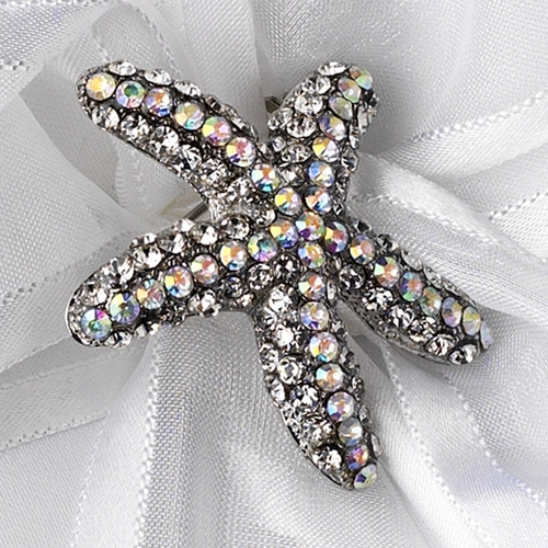Ring Pillow 90 with Crystal Beach Starfish Brooch 93
