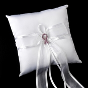 Ring Pillow 90 with Pink Breast Cancer Brooch 120
