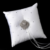 Ring Pillow 92 with Antique Silver Clear Swirl Brooch 116