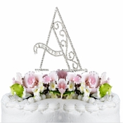 Romanesque ~ Swarovski Crystal Wedding Cake Topper ~ Letter A