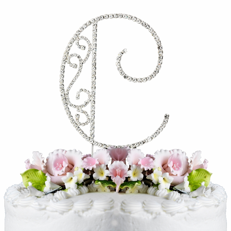 letter c wedding cake topper romanesque swarovski wedding cake topper letter c 16832