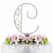 Romanesque ~ Swarovski Crystal Wedding Cake Topper ~ Letter C