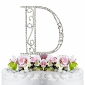 Romanesque ~ Swarovski Crystal Wedding Cake Topper ~ Letter D